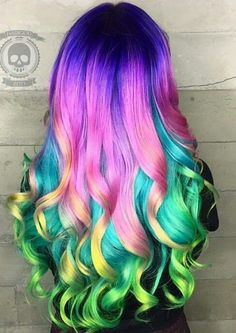 Image result for fun dyed hair
